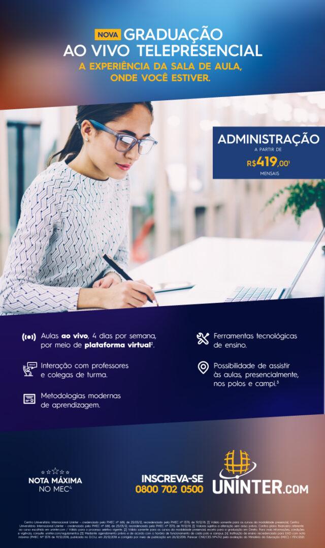 Estude o curso superior de administração no conforto do seu lar.